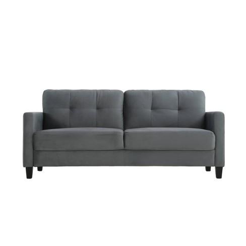 Terry Microfiber Sofa Dark Gray - Lifestyle Solutions - image 1 of 4