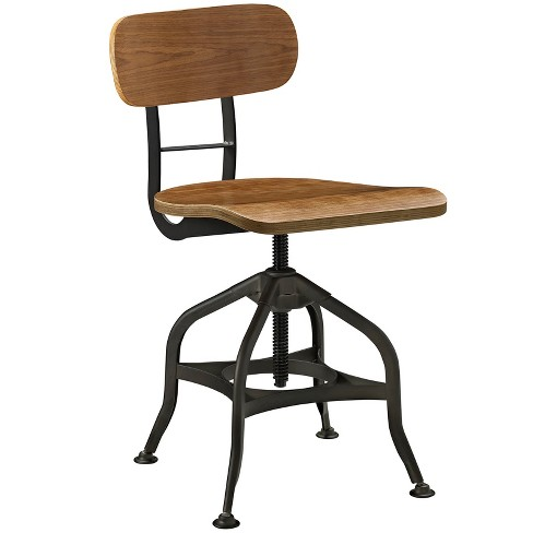 Mark Wood Dining Stool Brown - Modway - image 1 of 4