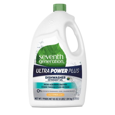 Seventh Generation Ultra Power Plus Dishwasher Detergent Gel - 65 fl oz