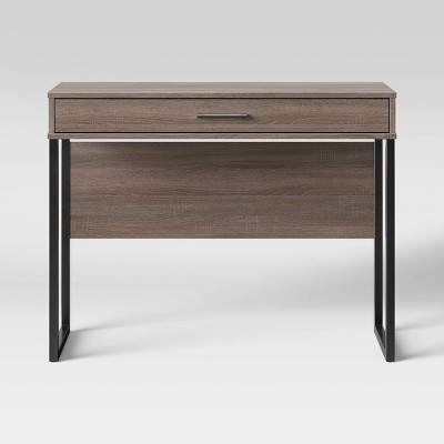 Mixed Material Writing Desk Gray - Room Essentials™
