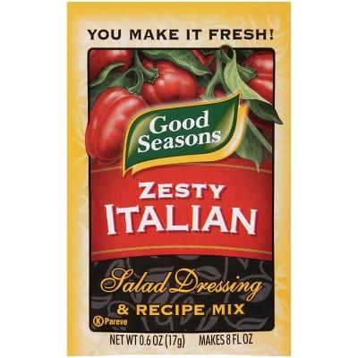 Good Seasons Zesty Italian Dressing and Recipe Mix .6oz