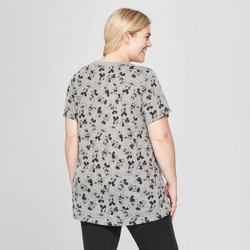 cbc138bff Women s Disney Plus Size Short Sleeve Mickey Mouse Print T-Shirt ...