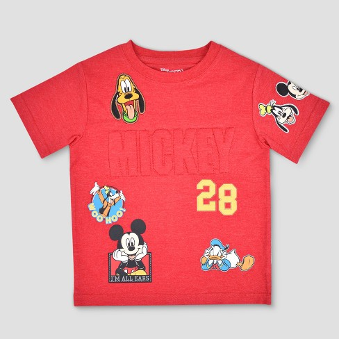 e1c49415 Toddler Boys' Mickey Mouse & Friends Short Sleeve T-Shirt - Red 4T ...