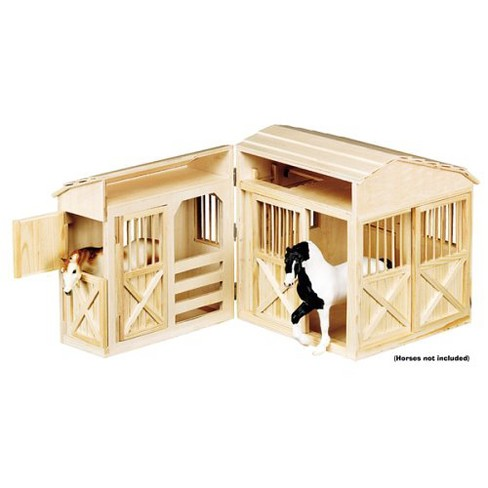 Melissa & Doug® Folding Wooden Horse Stable Dollhouse With Fence - image 1 of 2