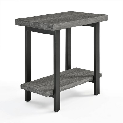 Pomona Metal and Reclaimed Wood End Table Slate Gray - Alaterre Furniture