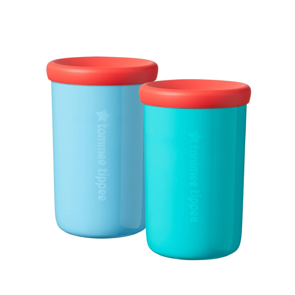 Image of Tommee Tippee Easiflow 360 Cups - Turquoise/Aqua - 2pk