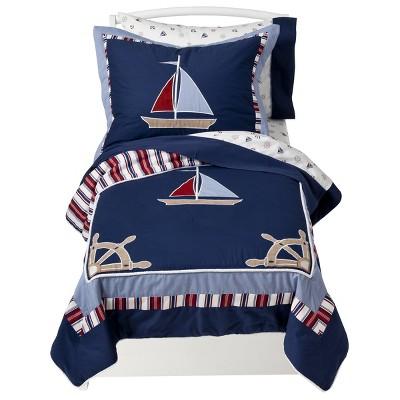 Sweet Jojo Designs Nautical Nights 5 pc. Toddler Bedding Set