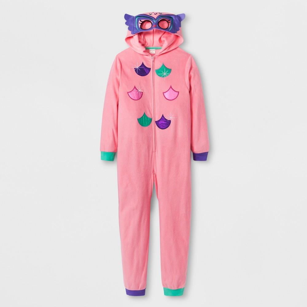 Girls' Owl Graphic Hooded Blanket Sleeper - Cat & Jack Pink XL