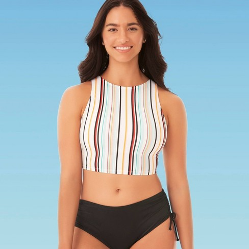Women's Slimming Control High Neck Bikini Top - Beach Betty By Miracle Brands Multi - image 1 of 3