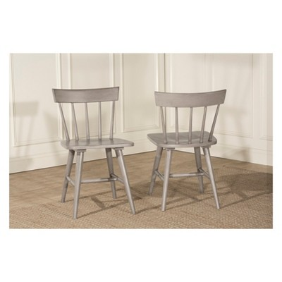Set of 2 Mayson Spindle Back Dining Chair Gray - Hillsdale Furniture