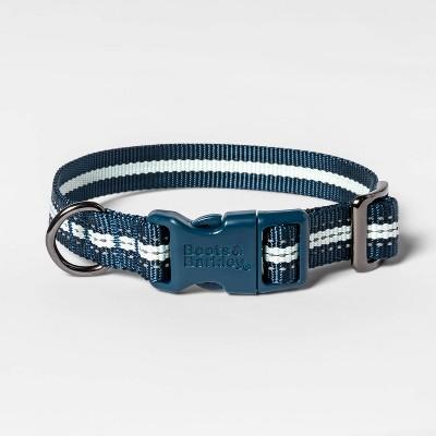 Reflective Stripe Fashion Dog Collar - Blue - Boots & Barkley™