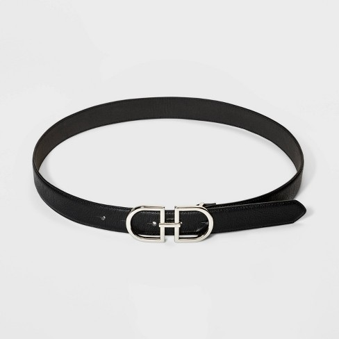 Women's Plaque Double Buckle Belt - A New Day™ - image 1 of 2