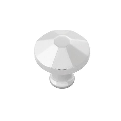 "Belwith Keeler B053134 Facette 1-3/8"" Diameter Solid Brass Mushroom Cabinet Knob - image 1 of 1"