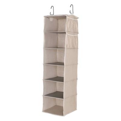StorageWorks 6-Shelf Hanging Closet Organizer in Sandstone
