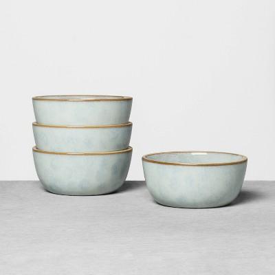 4pk Stoneware Exposed Rim Mini Bowl Set Blue - Hearth & Hand™ with Magnolia