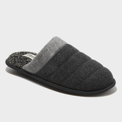 Men's dluxe by dearfoams Brett Scuff Slide Slippers - Black L