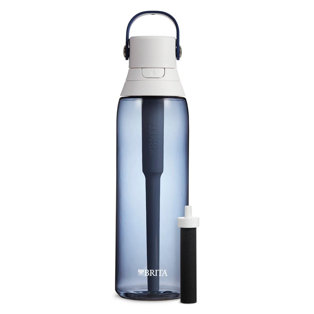 Image of Brita Premium 26oz Filtering Water Bottle with Filter BPA Free - Night Sky, Blue