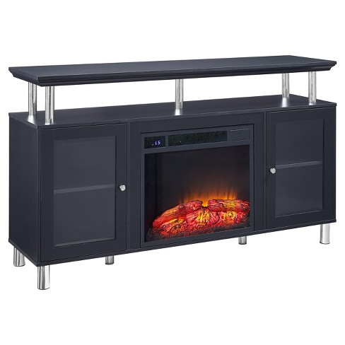 "Wood 65"" TV Stand With Storage Black - Home Source Industries - image 1 of 5"