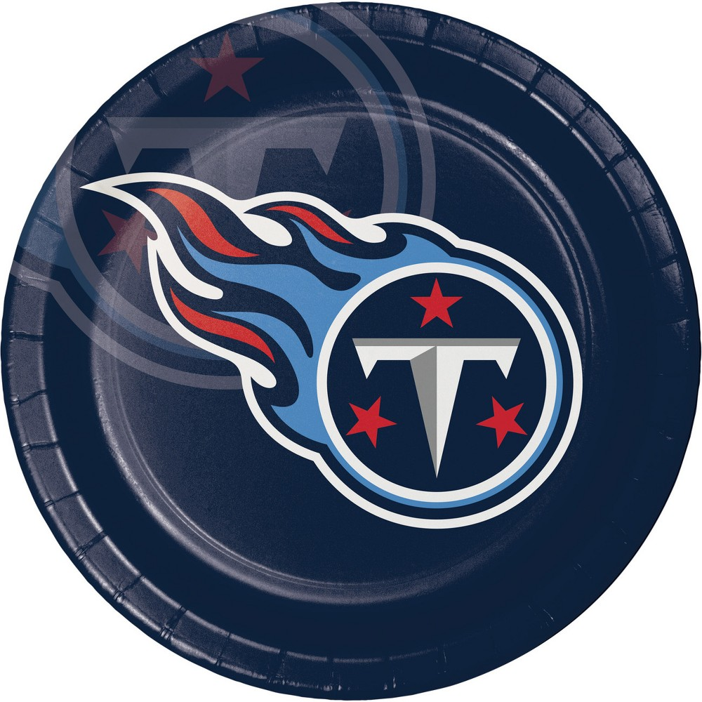 24ct Tennessee Titans Paper Plates Navy (Blue)