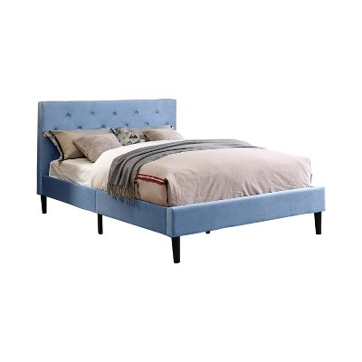 Raiden Flannelette Upholstered Bed - miBasics