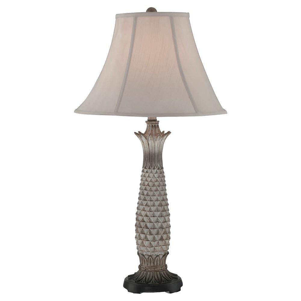 Lourdes 1 Light Table Lamp - Light Brown, Light Gray/Off White