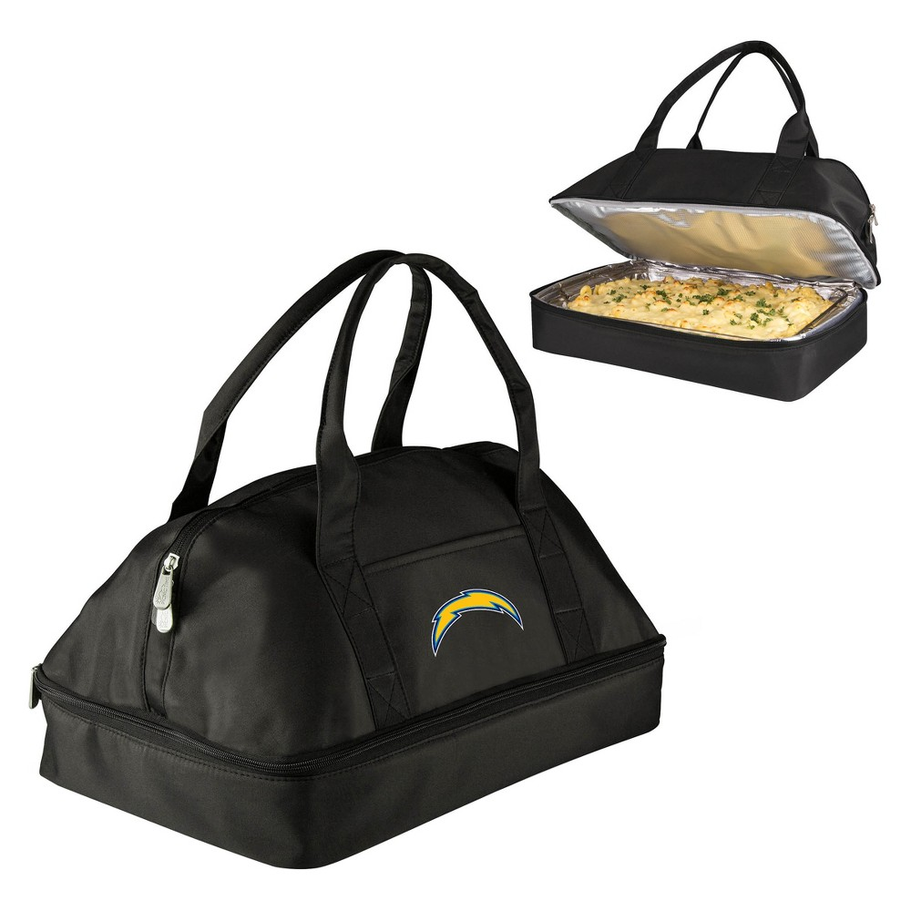 Nfl Los Angeles Chargers Picnic Time Potluck Casserole Tote Black