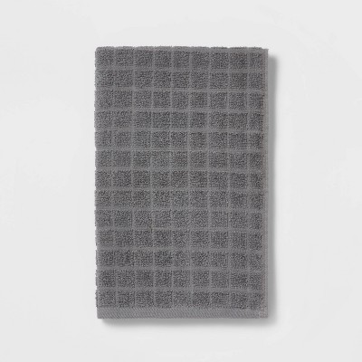 Grid Texture Hand Towel Pigeon Gray - Room Essentials™