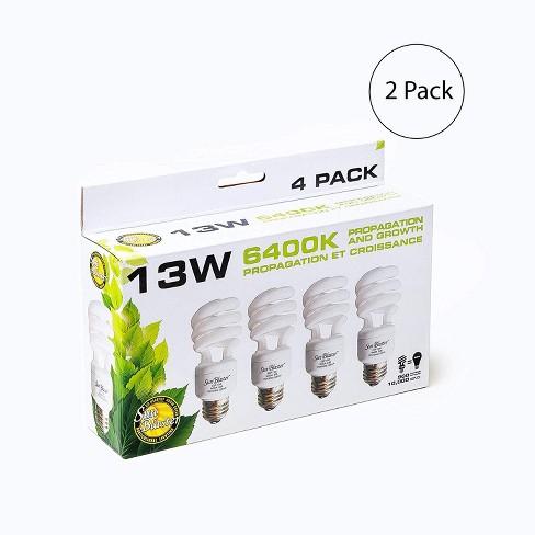 SunBlaster SL0900151 13 Watt CFL Compact Fluorescent Indoor Plant Grow Self-Ballasted Light Bulb Set (8 Lightbulbs) - image 1 of 3