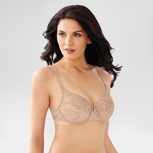 4de9bf395f0f1 Beauty by Bali® Women s Lace Unlined Underwire Bra 3B43 40C Nude ...