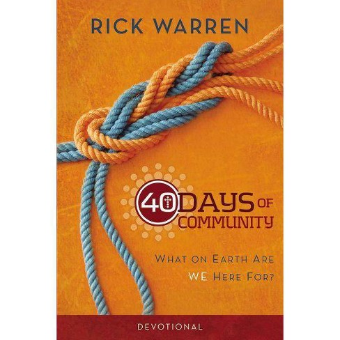40 Days of Community Devotional - by  Rick Warren (Paperback) - image 1 of 1