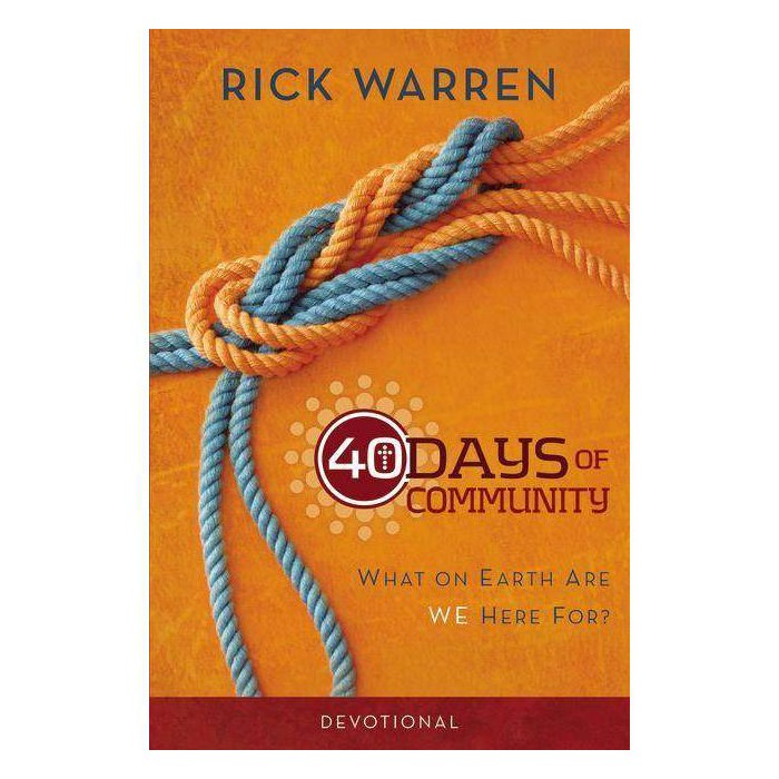 40 Days of Community Devotional - by  Rick Warren (Paperback) - image 1 of 1