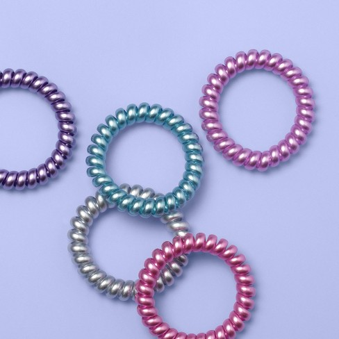 Girls' 5pk Spiral Hair Ties - More Than Magic™ - image 1 of 2