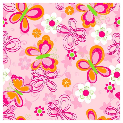 Butterfly Floral Fleece Throw Kit - image 1 of 1