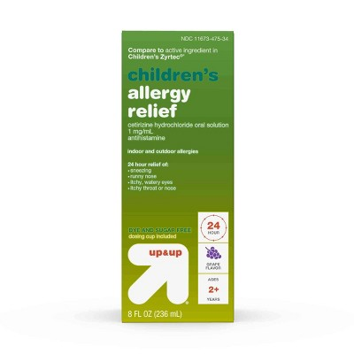 Children's Cetirizine Hydrochloride Allergy Relief Liquid - Grape - 8 fl oz - up & up™