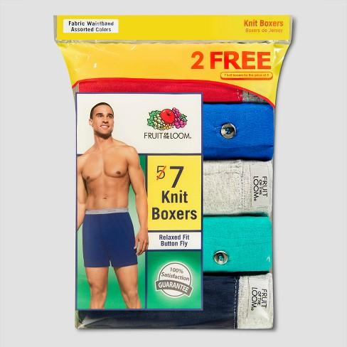 f207567531e7 Fruit Of The Loom® Men's Knit Boxer Shorts 5+2pk - M : Target