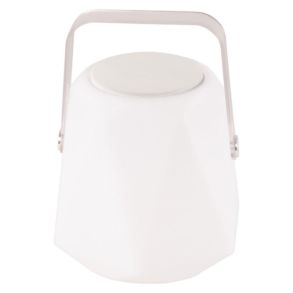Image of Allsop Glow 11.4 Diamond Outdoor Speaker Lantern - White - Mooni