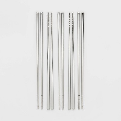 5pk Stainless Steel Chopsticks Set - Threshold™