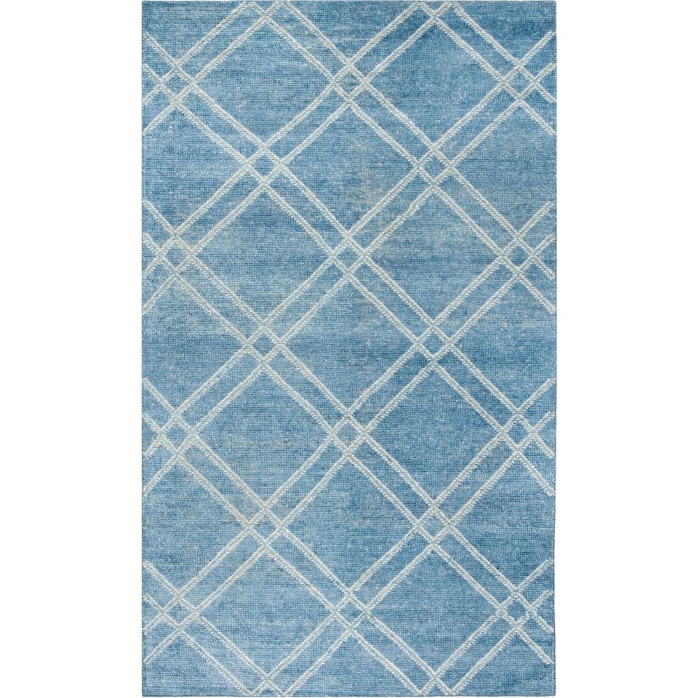 5'X8' Geometric Knotted Area Rug Deep Blue - Safavieh