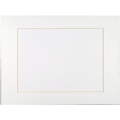 Sax Premium Pre-Cut Mat, 8 x 10 Inches, Bright White, pk of 10