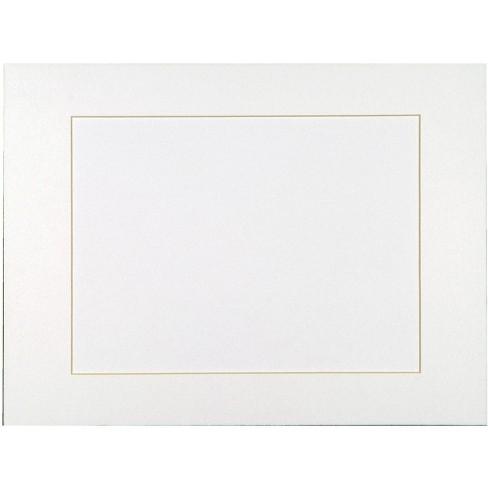 Sax Premium Pre-Cut Mats, 11 x 14 Inches, Bright White, pk of 10 - image 1 of 1