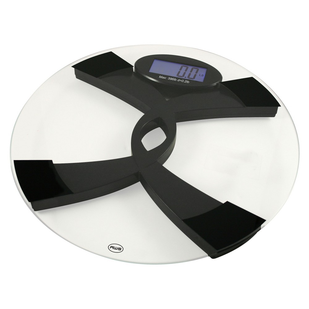 American Weigh Scales Talking Bathroom Scale - 396TBS, Clear