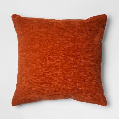Orange Chenille Oversize Square Throw Pillow - Threshold™