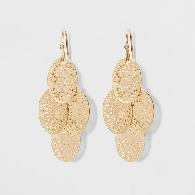 Filigree Chandelier Earrings - A New Day™ Gold