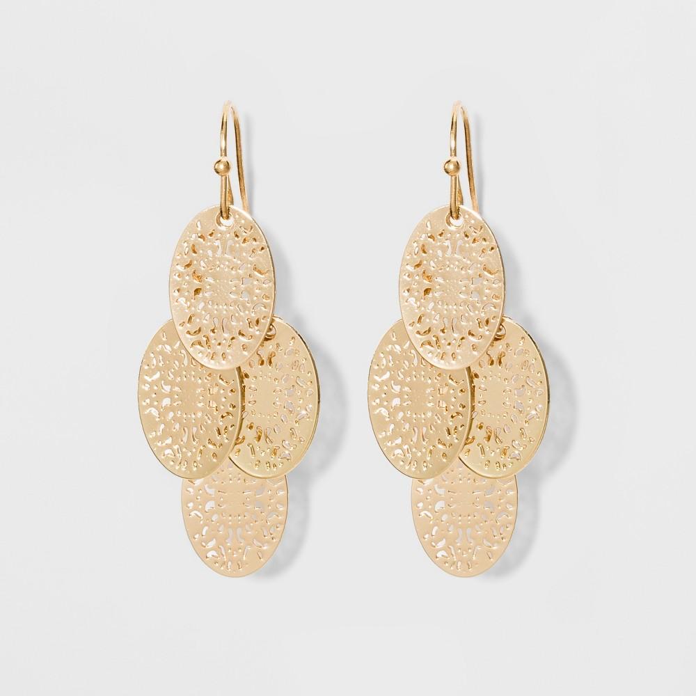 Filigree Chandelier Earrings A New Day 8482 Gold