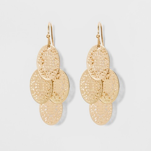 Filigree Chandelier Earrings - A New Day™ Gold - image 1 of 3