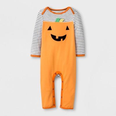Baby's Pumpkin Romper - Cloud Island™ Orange 0-3M