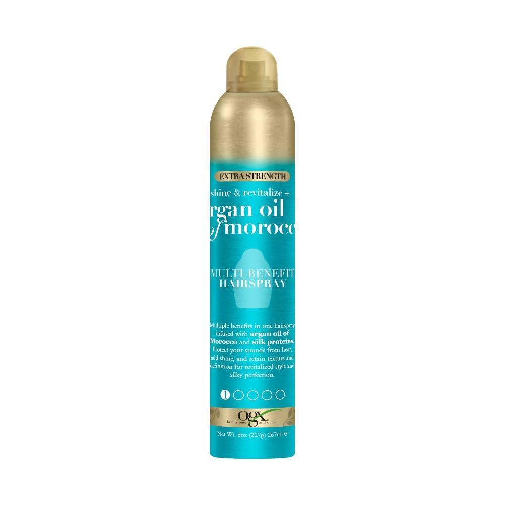 Image of OGX Argan Oil of Morocco Extra Strength Multi-Benefit Hairspray - 8oz