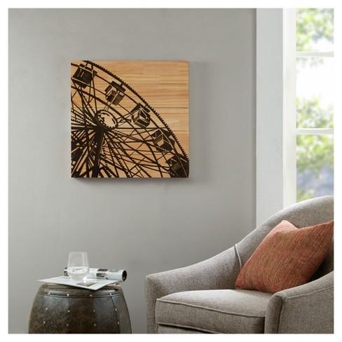 The Vintage Ferris Wheel Printed On Wood Wall Art 22.44 X 22.83 X 2 ...