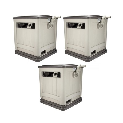 Suncast Swivel Smart Trak Hose Hideaway 225 Foot Hose Reel Storage Bin (3 Pack)