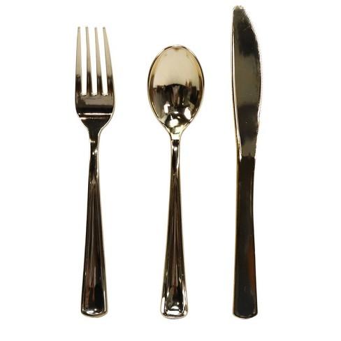 60ct Gold Cutlery Spritz Target